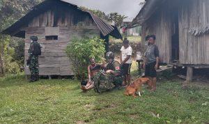 Satgas Yonif 403 Gelar Baksos Pengobatan Gratis di Kampung Opbanal