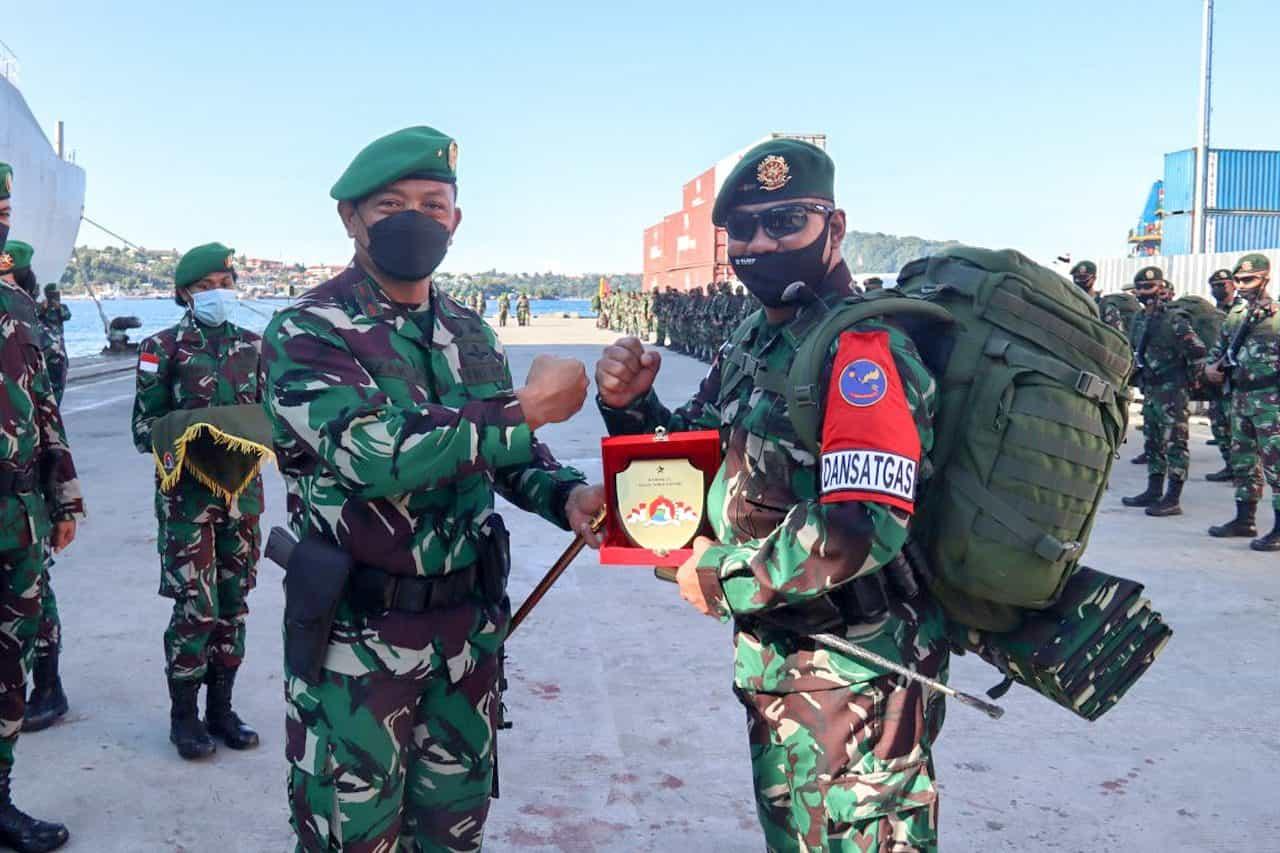 Danrem 172/PWY Apresiasi Yonif 432/WJS Dalam Pelaksanaan Satgas Pengamanan Wilayah Papua