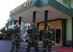 Tim Majalah Palagan Dispenad Kunjungi Kodim Martapura