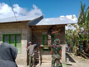 Semenisasi Satgas Yonif 742 Sasar Rumah Warga Dusun Mebupor