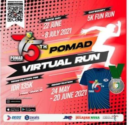 """Puspomad Gelar """"Pomad Virtual Run 2021"""