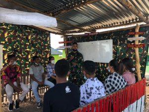 Satgas Yonif 742 Bersama RRI Atambua Bersinergi Bangun Negeri