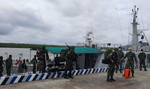 Personel Satgas Yonif 315/Garuda Tiba di Merauke
