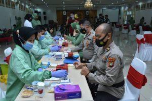 Menyambut HUT Ke 75 Pomad, Puspomad Gelar Donor Darah