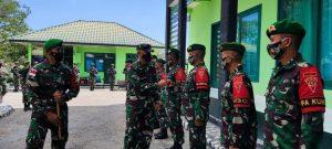 Irdam IX/Udayana Kunjungi Mako Satgas Yonif 742, Dansatgas Paparkan Kondisi Satgas Pamtas RI-RDTL