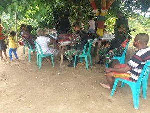 Satgas Yonif 131 Gelar Pengobatan Gratis di Dua Kampung Distrik Arso