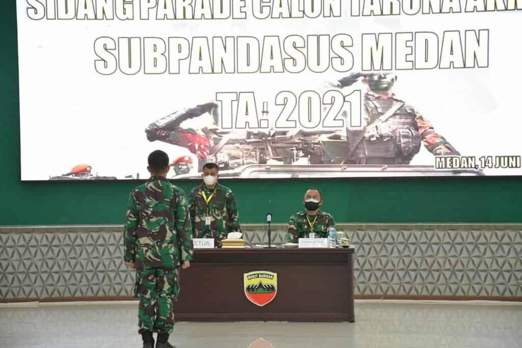 Aspers Kasdam I/BB Buka Sidang Parade Penerimaan Catar Akmil TA 2021 Subpandasus Medan