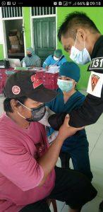 Satgas Yonif 131 Bantu Pelaksanaan Vaksin Covid-19 di Keerom Papua