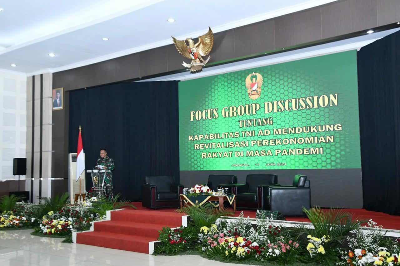 FGD Sahli Kasad, Kupas Kapabilitas TNI AD Dalam Mendukung Revitalisasi Perekonomian Rakyat di Masa Pandemi