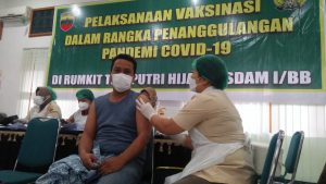 Kodam I/BB – Poldasu Kompak Ajak Masyarakat Vaksinasi Covid-19