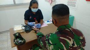 Satgas Yonif 611/Awang Long Gelar Aksi Donor Darah di Perbatasan