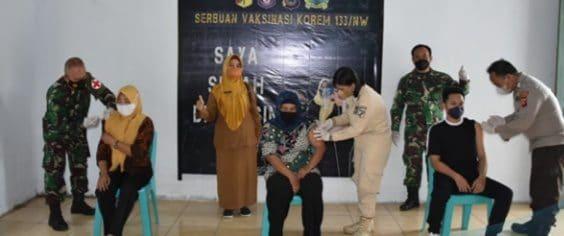 Serbuan Vaksinasi Covid-19 di Wilayah Korem 133/NW
