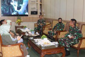 Jalin Silaturahmi, Pangdam II/Swj Terima Audiensi Kepala DTPHP Provinsi Jambi