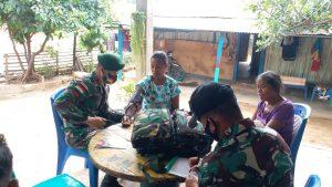 Gelar Yankesling, Satgas Yonif 742 Obati 9 Warga Dusun Hibada