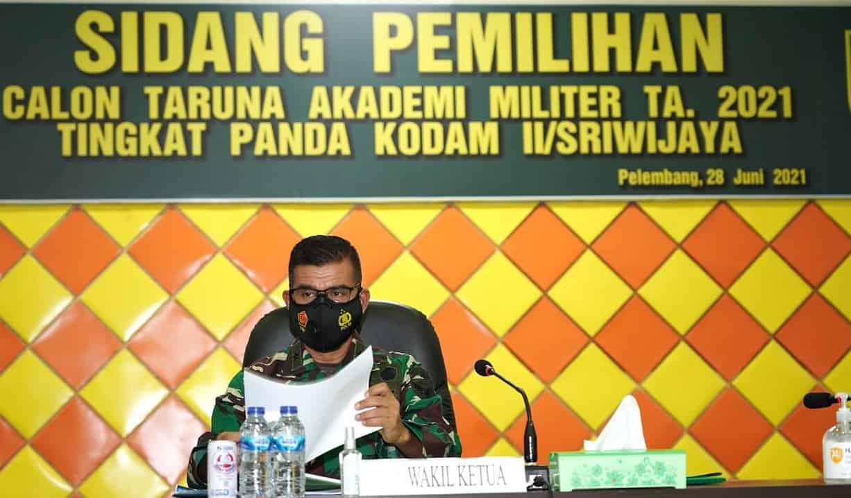 Kasdam II/Sriwijaya Pimpim Sidang Parade Catar Akmil Panda Kodam II/Swj TA 2021