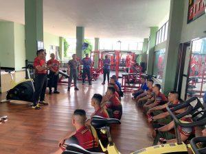 Kadisjasad Tinjau Pelaksanaan Aswas Program Latihan Fitness di Satuan Yonif Raider 621/Manuntung dan Yonif Raider 733/Masariku TA 2021