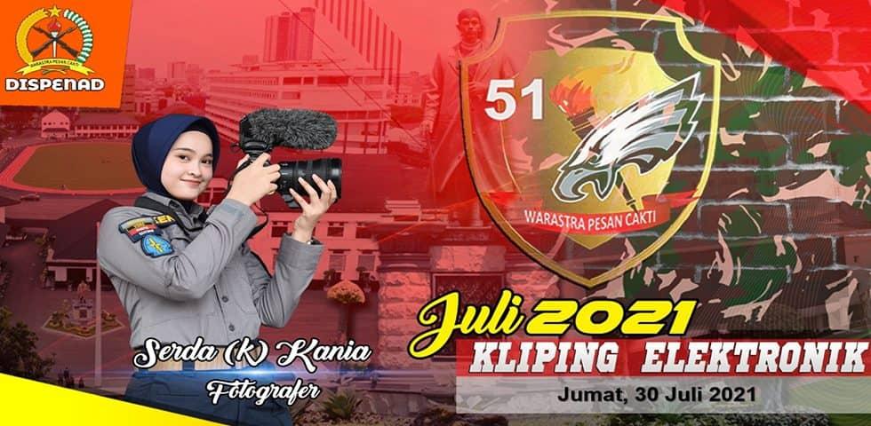 Kliping Elektronik Jumat, 30 Juli 2021