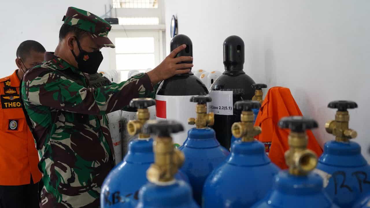 70 Tabung Oksigen di Salurkan Danrem 061/SK Bantu Pemkot Bogor