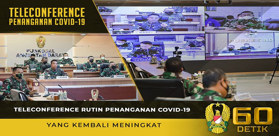 Teleconference Rutin Penanganan Covid-19 yang Kembali Meningkat