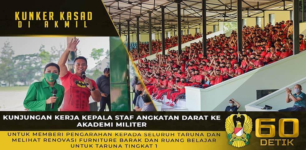 Kunker Kasad dan Ketum Persit KCK ke Akmil untuk Memberi Pengarahan dan Melihat Renovasi Barak