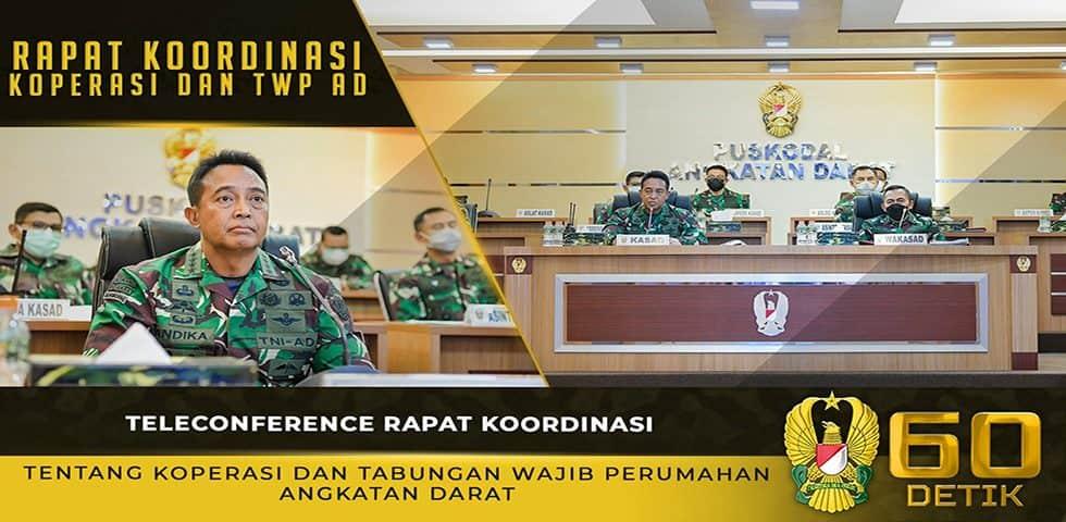 Teleconference Rapat Koordinasi Tentang Koperasi dan TWP AD