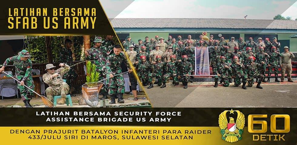 Latihan Bersama SFAB US ARMY dengan Prajurit Yonif Para Raider 433/Julu Siri
