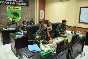 Pangdam XVIII/Kasuari Instruksikan PPKM Darurat Imbangan dan Serbuan Vaksinasi di Papua Barat