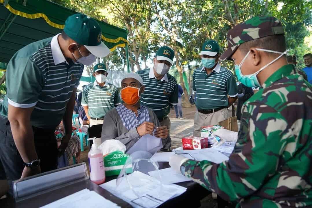 Korem 162/WB Jemput Bola Kepada Masyarakat Serbuan Vaksinasi Covid -19