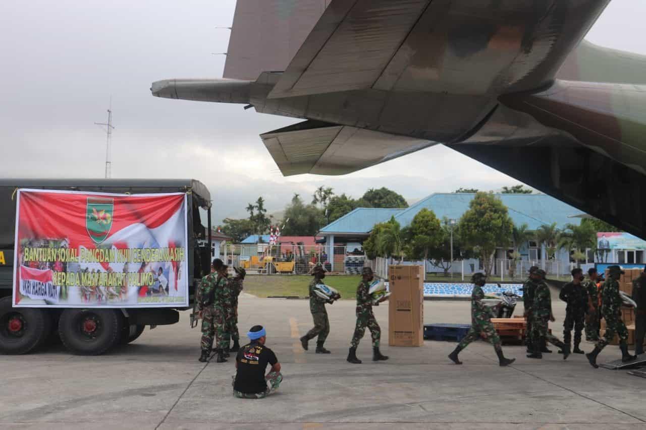 Kodam XVII/Cenderawasih Kirim Bantuan Bagi Warga Yalimo Terdampak Kerusuhan