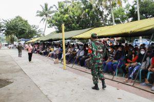 Serbuan Vaksinasi Korem 172/PWY, Polda Papua dan Pemkot Jayapura Capai 2.752 Orang