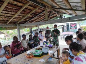 Satgas Yonif 403 Sosialisasikan Pengolahan Singkong Menjadi Makanan Bernilai Ekonomis Tinggi