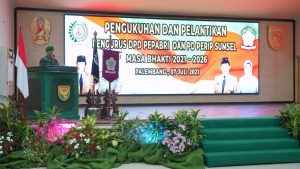 Kasdam II/Swj Pimpin Pengukuhan dan Pelantikan Pengurus DPD PEPABRI dan PD PERIP Sumsel Periode 2021-2026