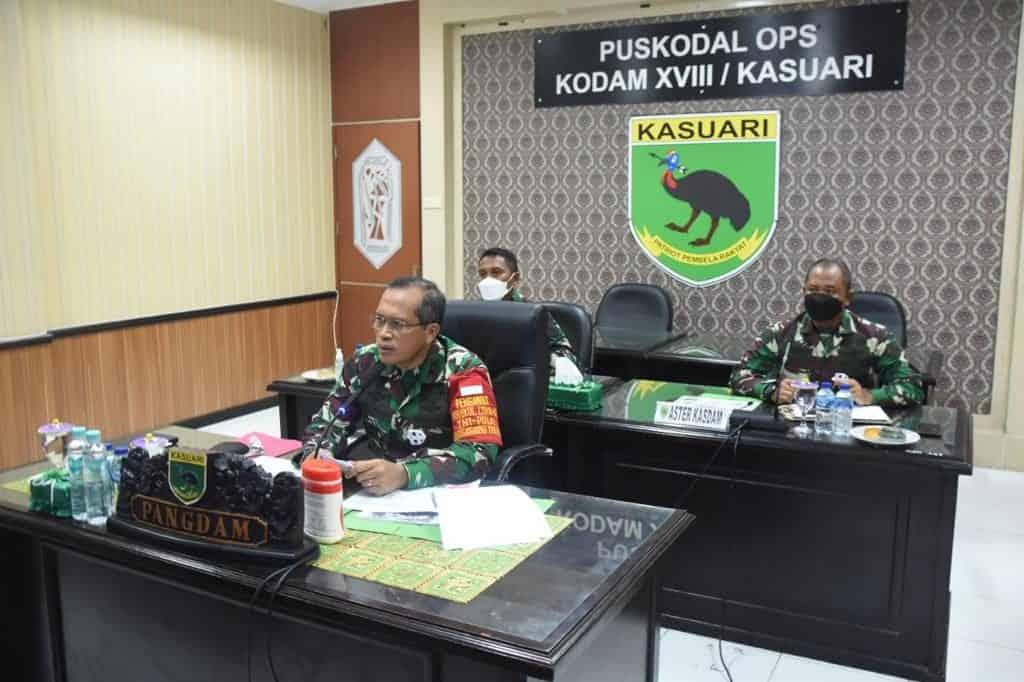 Pangdam XVIII/Kasuari Buka Pembekalan 120 Personel BKO Kodim Persiapan Gelombang III