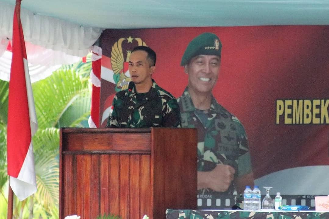 Kasdam XVII/Cenderawasih Buka Pembekalan Personel Satuan BKO Kodim Persiapan Gelombang III Tahap II