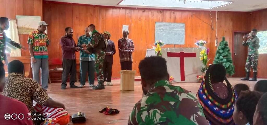 Satgas Pamrahwan Yonif RK 751, Pererat Komunikasi Sosial Dengan Tokoh Agama Distrik Kanggime