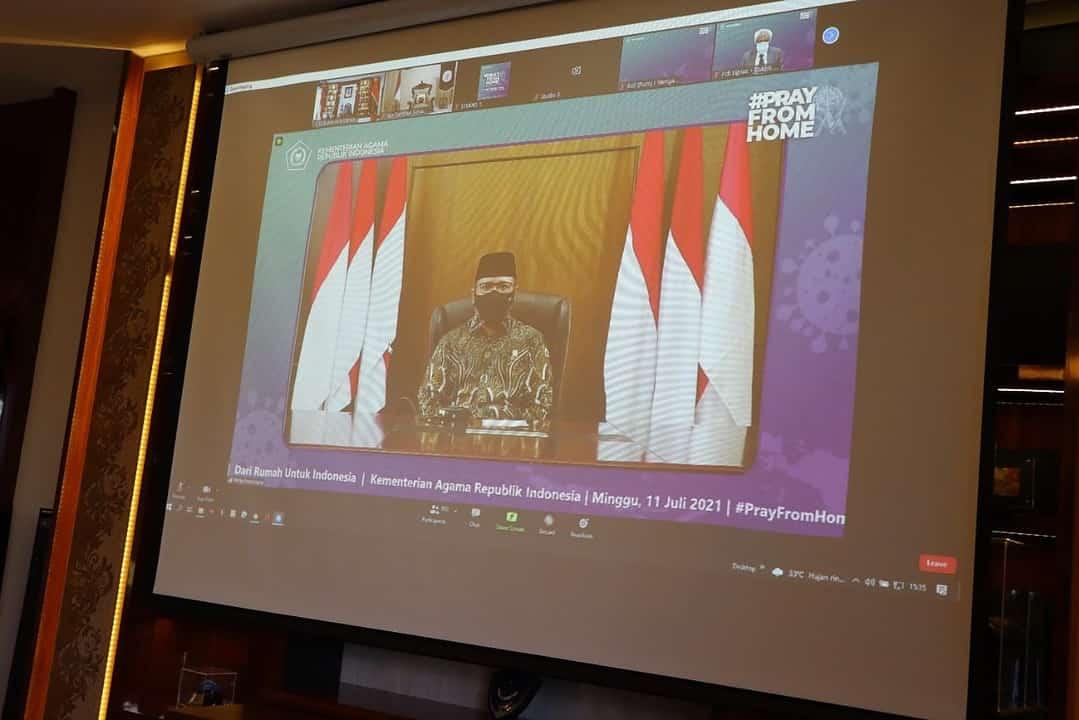 Pangdam XVII/Cenderawasih, Ikuti Pray From Home Secara Virtual Bersama Presiden RI
