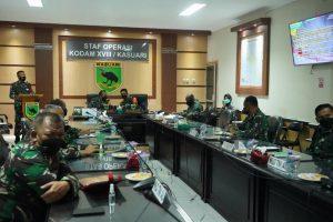 Bentuk Kogasgabpad, Kodam XVIII/Kasuari Bergerak Cepat Bantu Pemda Atasi Pandemi Covid-19
