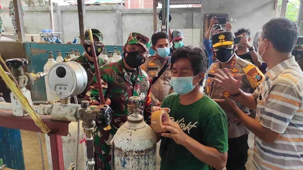 Tinjau Produksi Oksigen di Manokwari, Pangdam XVIII/Kasuari Siap Fasilitasi Teknisi Mesin Produksi