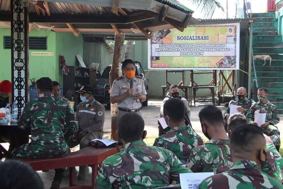 Satgas Yonif 131 Terima Sosialisasi Dari Kepala Karantina Kelas I Jayapura