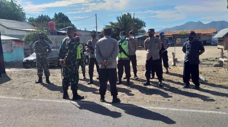 Dandim 1628/SB dan Kapolres Sumbawa Barat Pimpin Pelaksanaan PPKM Darurat Imbangan