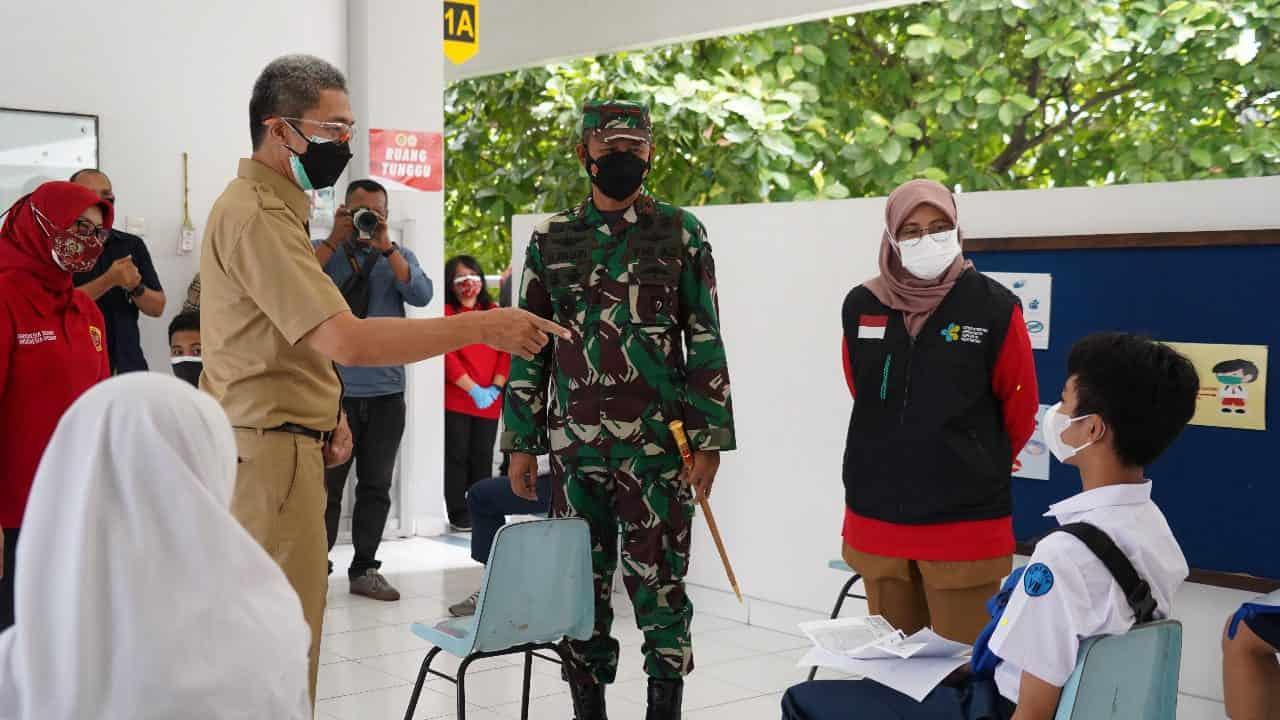 700 Pelajar SMP Kota Bogor Vaksinasi Perdana Program BIN dan Korem 061/SK