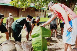 Tingkatkan Semangat Berkurban, Satgas Pamtas Yonif 403/WP Meriahkan Hari Raya Idul Adha di Wilayah Perbatasan RI-PNG