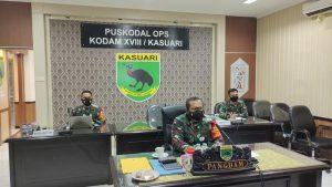 Pangdam XVIII/Kasuari Ikuti Rapat Dengan Panglima TNI Bahas Penanganan Covid-19