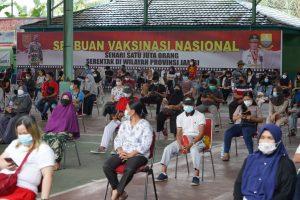 Korem 042/Gapu Gelar Vaksinasi Massal Dosis Kedua Untuk Warga Jambi