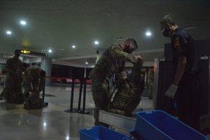 Prokes Ketat Sambut Kedatangan 330 Tentara Amerika di SMB II Palembang