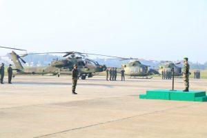 Danpuspenerbad Pimpin Upacara Gelar Kesiapan Skadron Penerbad Dalam Rangka Latihan Bersama Garuda Shield 15 Tahun 2021