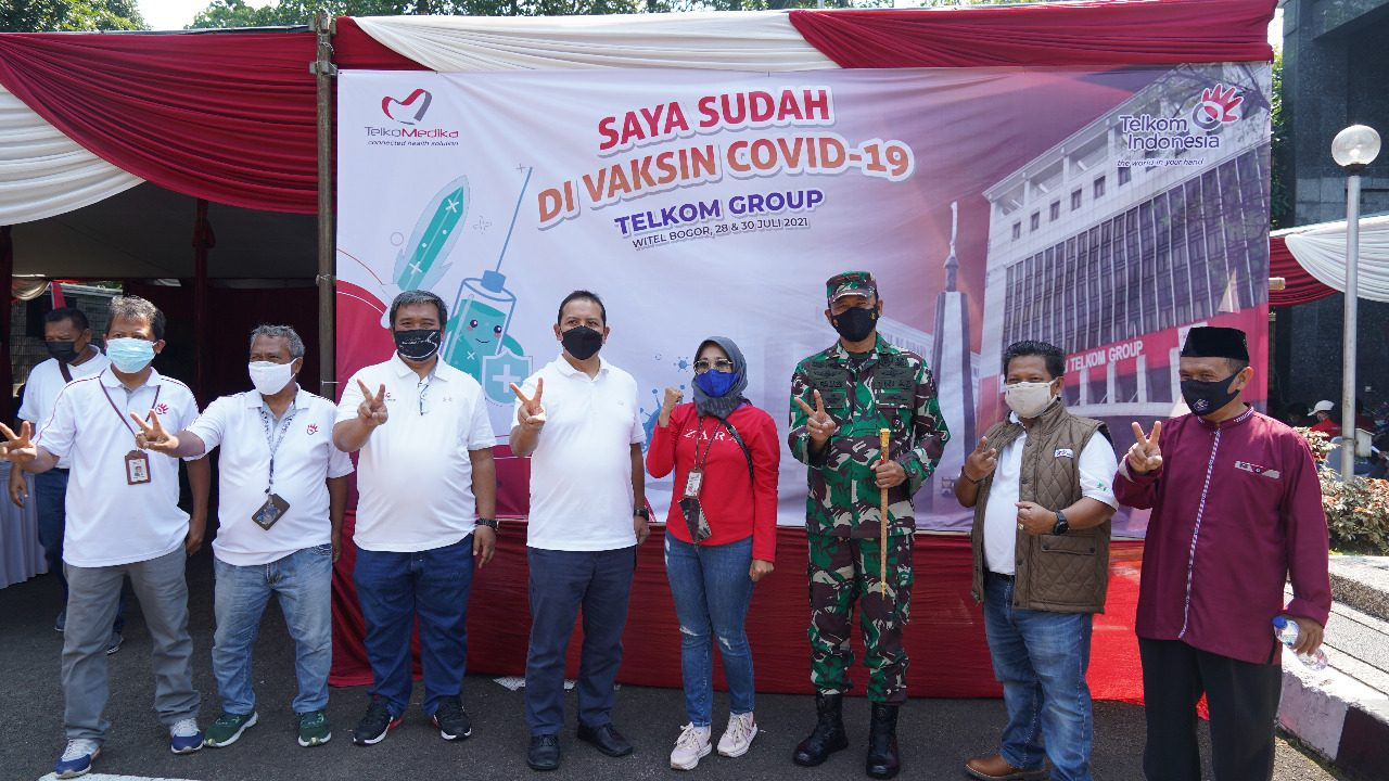 Kolaborasi Korem 061/SK dan Telkom Witel Bogor Vaksinasi Covid -19 Santri MTs Al Fikri