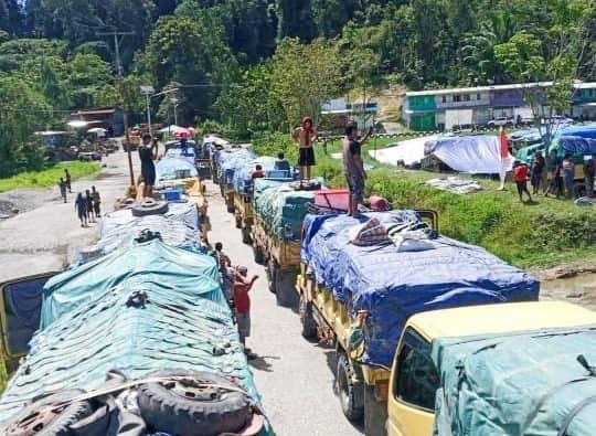 Palang Jalan Trans Jayapura Wamena di Distrik Elelim Kembali Dibuka