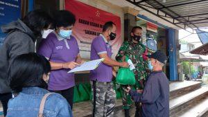 Sampai Tahap Lima, Kodim Badung Distribusikan 2150 Paket Sembako Warga Terdampak Covid -19