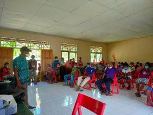 Gandeng Kepala Distrik, Satgas Yonif 512/QY Gelar Sosialisasi Pencegahan Covid-19 di Tapal Batas Papua
